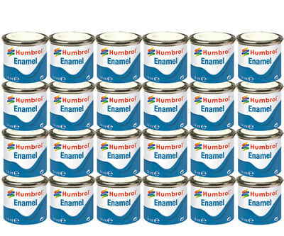 HUMBROL 24 x Enamel Model Paint 14ml - Choose your colours - Model Paints Tamiya
