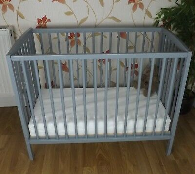Dropside Space Saver Small - Little Cot White + Mattress