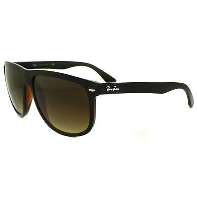 Ray-Ban Sunglasses 4147 609585 Top Black on Brown Brown Gradient Large 60mm