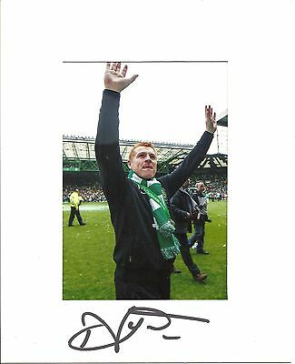 10 x 8 inch mount personally signed by Neil Lennon of Celtic.