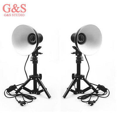 2pcs  Photography Photo Studio Kit lamp shade+stand for Box Soft Tent Light