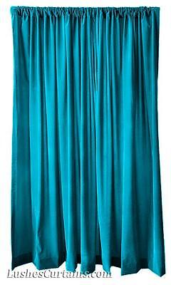 """216"""" H Turquoise Velvet Curtain Long Panel Custom Extra Large Wall Cover Drapes"""