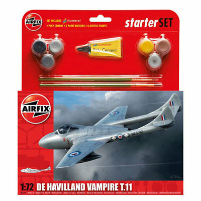 AIRFIX A55204 De Havilland Vampire T11 Starter Set 1:72 Aircraft Model Kit