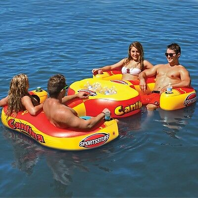 SportsStuff Cantina Lounge Inflatable Water Tube Raft 4 Person Pool Lake 54-2025