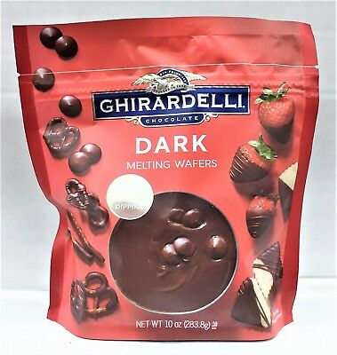 Ghirardelli Dark Melting Wafers Candy Making & Dipping Chocolate 10 oz