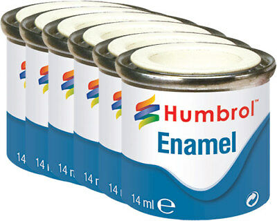 HUMBROL Enamel Model Paint Metallic 14ml Choose Colour