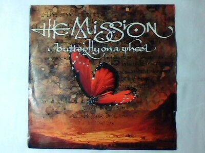 """THE MISSION Butterfly on a wheel 7"""" WEST GERMANY"""