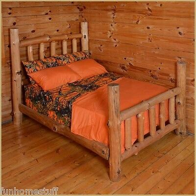 Orange Woods Hunter Microfiber Camouflage Sheets Camo Bed