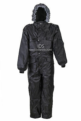 "IDF Israel Cold Weather ""Hermonit"" Winter Gear Coverall Color Black"