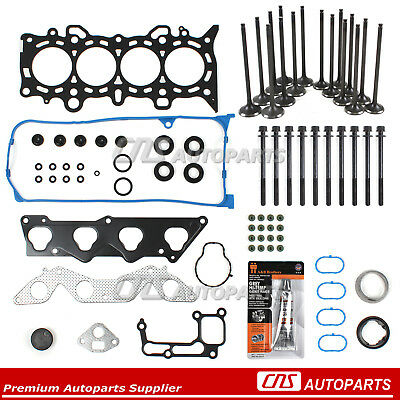 01-05 Honda Civic D17A1 Head Gasket Set Bolts Intake Exhaust Valves Silicone Kit