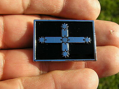 EUREKA FLAG VEST PIN Badge Black *HIGH QUALITY Biker fit HARLEY-DAVIDSON Lapel
