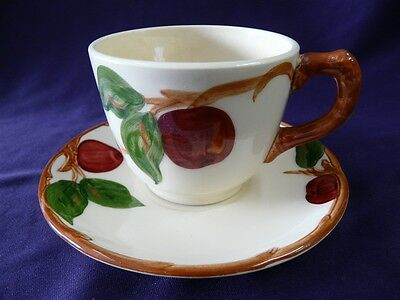 FRANCISCAN CHINA APPLE PATTERN USA CUP & SAUCER