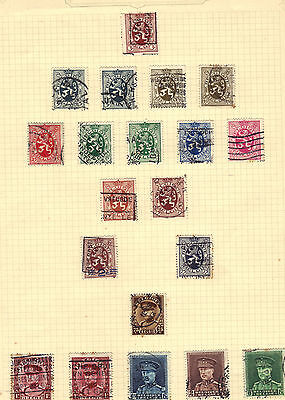 BELGIUM Old Stamp Collection Used circa 1930s Ref:F451