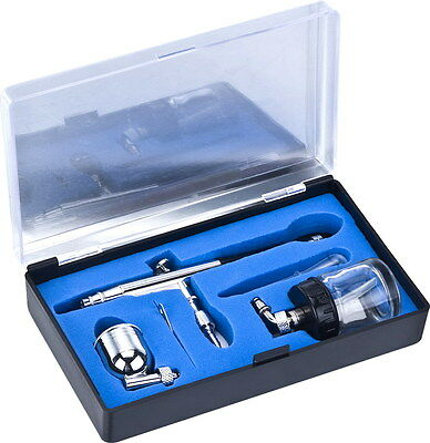 HS34 Gravity & Bottom Feed Dual Action Airbrush + Free Cleaning Brush Set