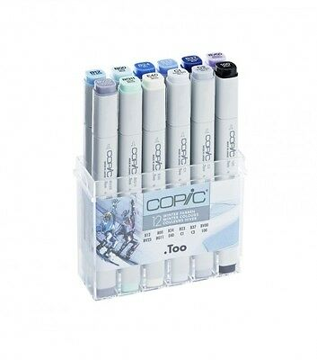 COPIC (Classic) Marker 12er Set WINTER FARBEN in AcrylBox + Farbkarte GRATIS
