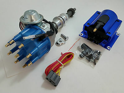 SBF Small Block Ford 260 289 302 Ready To Run Small Cap Distributor & Coil Kit