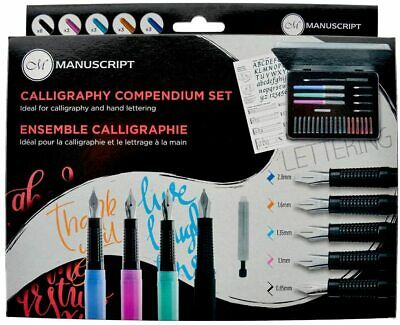 Manuscript Calligraphy Compendium Complete Introduction Gift Set With Tin MC150