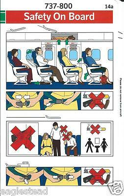 Safety Card - SAS - B737 800  (S3564)