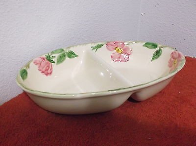 VINTAGE FRANCISCAN DIVIDED OVAL SERVING BOWL in DESERT ROSE PATTERN..#1