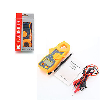 Multi-Meter Portable Digital LCD Clamp Ampere AC/DC Voltage Current Ohm Tester