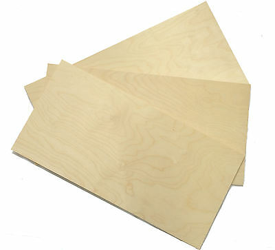 3 x Birch Faced Plywood Panels 600 x 300mm x 1.5mm Wood Sheet Pack PLY1X3