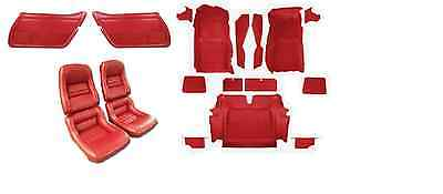 1978 - 1982 Corvette Interior Package. Door Panels, Carpet, Seat Covers on Foam.