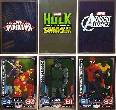 MARVEL HERO ATTAX Series 3 MIRROR Foil Card Set   17 - 48   UK   2014  Topps