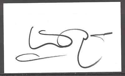 A 13cm x 7.5cm Plain White Card Signed by Kevin Ratcliffe. Everton, Dundee Wales
