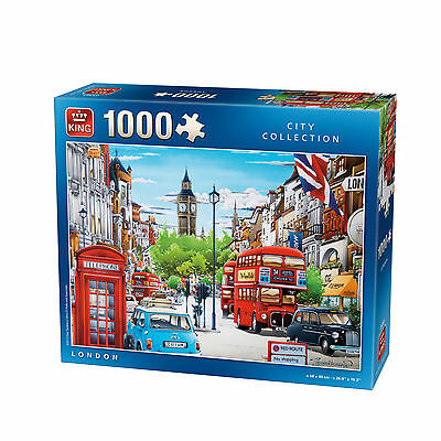 1000 Piece City Collection Jigsaw Puzzle Toy -  LONDON BUS BIG BEN BOX 05361