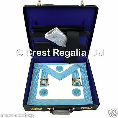 Masonic Craft Master Masons Full Pack - Apron, Case, Tie and Gloves - Brand New