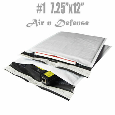 200 #1 POLY BUBBLE MAILERS PADDED ENVELOPES BAGS 7.25x12 SELF SEAL AirnDefense