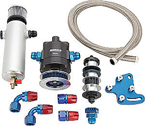 Moroso 3 Vane Vacuum Pump Kit Big Block Chevy Includes Pump Bracket Pulley Hose