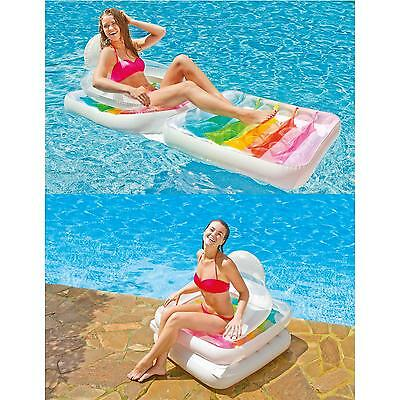 Intex Deluxe Inflatable Sun Lounger Swimming Pool Air-Bed Beach Seat/Chair Lilo