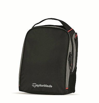 New - TaylorMade Golf 2017 Player's Shoe Bag - Black/Grey/Red