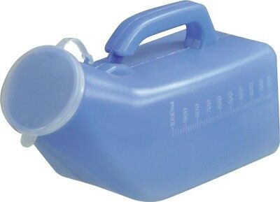 Aidapt Delux Male 1L Portable Urinal Travel Bottle & Anti Spill Lid Carry Handle