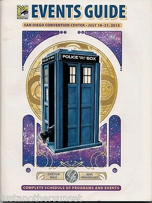 SDCC Comic Con San Diego 2013 Events Guide Tardis Doctor Dr Who Cover New