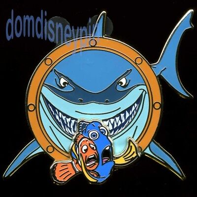 Disney Pin *Finding Nemo* Characters Bruce Shark w/  Scared Dory & Marlin (3D)!