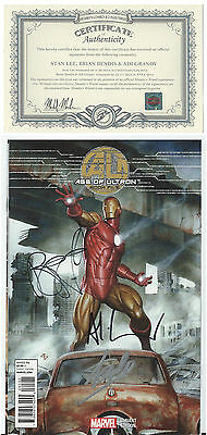 Age Of Ultron  Book Two Foil Variant Signed 3X Stan Lee Bendis & Granov W/ Coa
