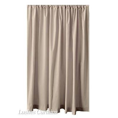 192 inch H Beige Velvet Curtain Long Panel Extra Large High Tall Stagging Drapes