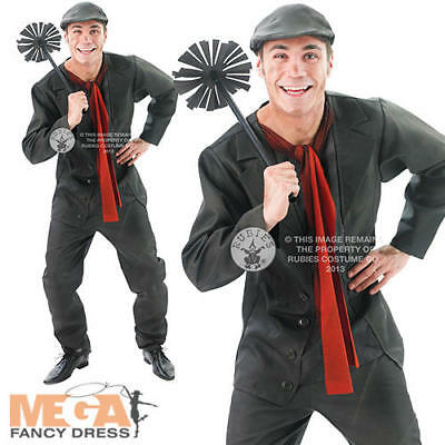 Bert Men's Fancy Dress Mary Poppins Chimney Sweep Victorian Disney Costume New