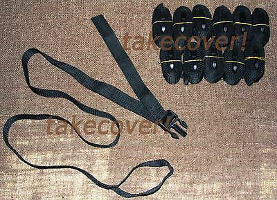 "12x BOAT COVER TIE DOWN STRAP KIT 1"" x 55"" w/ MALE END & Strap loop"