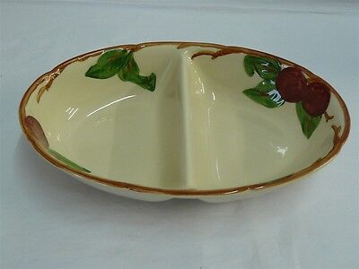 FRANCISCAN CHINA APPLE DIVIDED VEGETABLE BOWL 10-1/2""