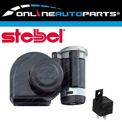 Air Horn Kit 12volt Stebel Nautilus Black Car Loud 139dB Electric
