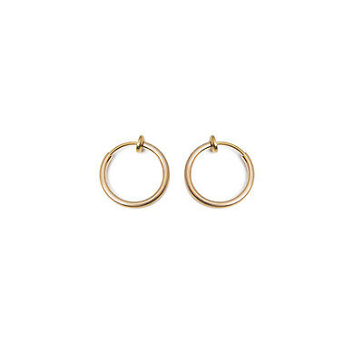Pair of Non-piercing Fake Hoops Anodized Gold Finish Lip, Nose, Cartilage & Ear