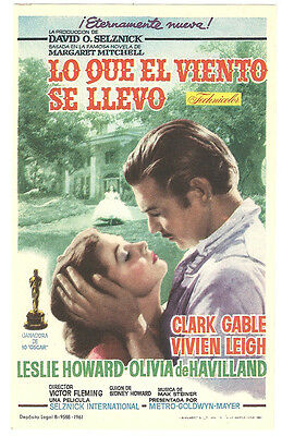 GONE WITH THE WIND CLARK GABLE VIVIEN LEIGH Rare SPANISH HERALD MINI POSTER