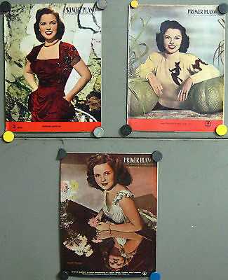 G5671 SHIRLEY TEMPLE collection of  3 vintage spanish magazines PRIMER PLANO
