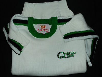 OLD VINTAGE 1980's QUAKER STATE MOTOR OIL RACING SWEATER SZ LARGE MINT