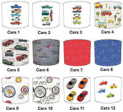 Cars & Trucks Lampshades, Ideal To Match Transportation Wall Decals & Stickers.