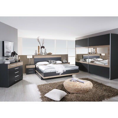 schlafzimmer komplett schrank doppelbett lattenroste. Black Bedroom Furniture Sets. Home Design Ideas