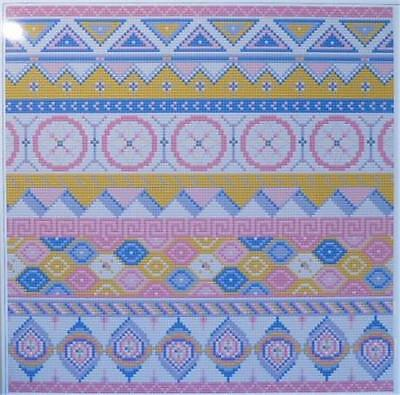 """TAPESTRY CHART - """"GEOMETRIC 3"""" by WILLIAMHOPE DESIGNS......038"""